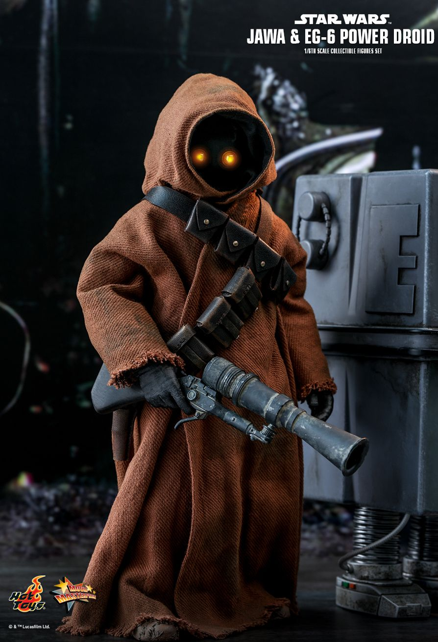 NEW PRODUCT: HOT TOYS: STAR WARS: EPISODE IV A NEW HOPE JAWA & EG-6 POWER DROID 1/6TH SCALE COLLECTIBLE SET 11192