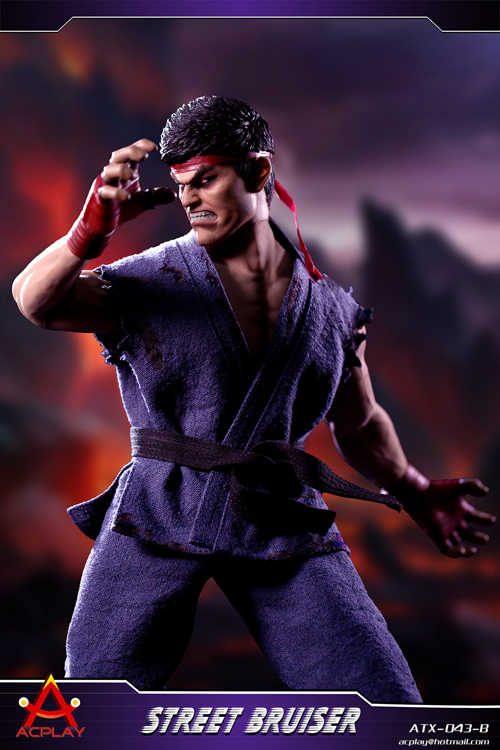 NEW PRODUCT: ACPLAY new products: 1/6 ATX043 Street Fighters practice martial arts A/B suit 11192210