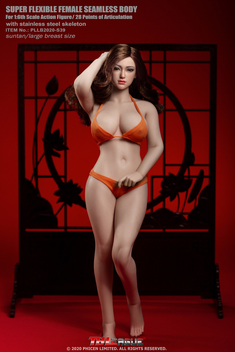 "body - NEW PRODUCT: TBLeague: 1/6 scale ""Chubby"" Female Body (2 styles, with or without a head sculpt) 11240"