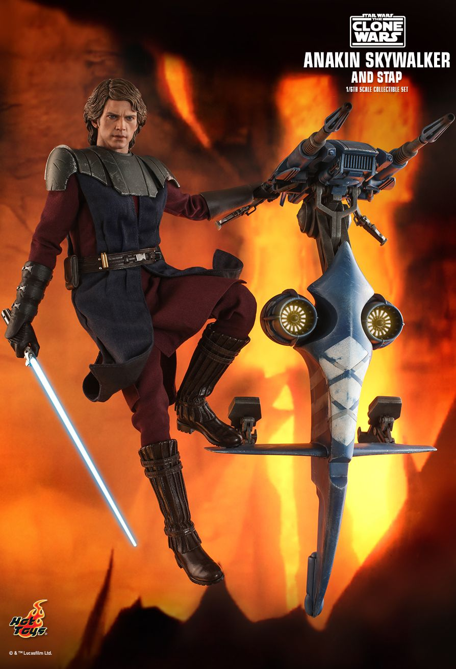 Sci-Fi - NEW PRODUCT: HOT TOYS: STAR WARS: THE CLONE WARS ANAKIN SKYWALKER AND STAP 1/6TH SCALE COLLECTIBLE SET 11297