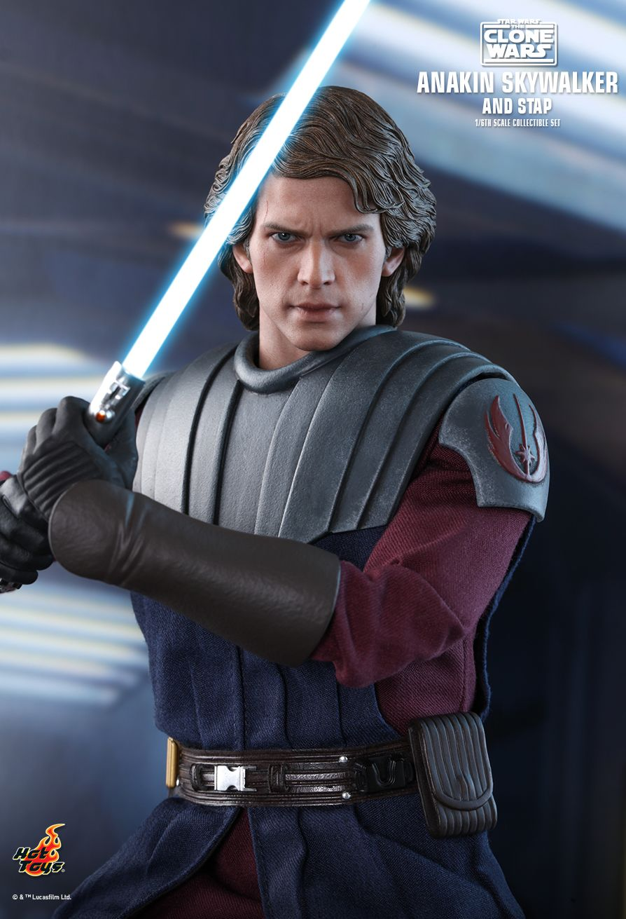 Sci-Fi - NEW PRODUCT: HOT TOYS: STAR WARS: THE CLONE WARS ANAKIN SKYWALKER AND STAP 1/6TH SCALE COLLECTIBLE SET 11298