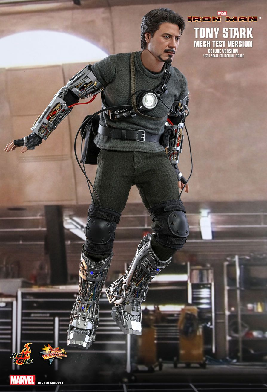 movie - NEW PRODUCT: HOT TOYS: IRON MAN TONY STARK (MECH TEST VERSION) (DELUXE VERSION) 1/6TH SCALE COLLECTIBLE FIGURE 11303