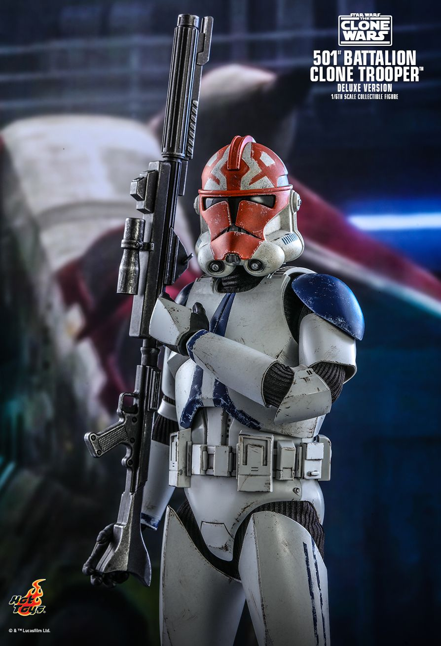 hottoys - NEW PRODUCT: HOT TOYS: STAR WARS: THE CLONE WARS™ 501ST BATTALION CLONE TROOPER™ (DELUXE VERSION) 1/6TH SCALE COLLECTIBLE FIGURE 11331