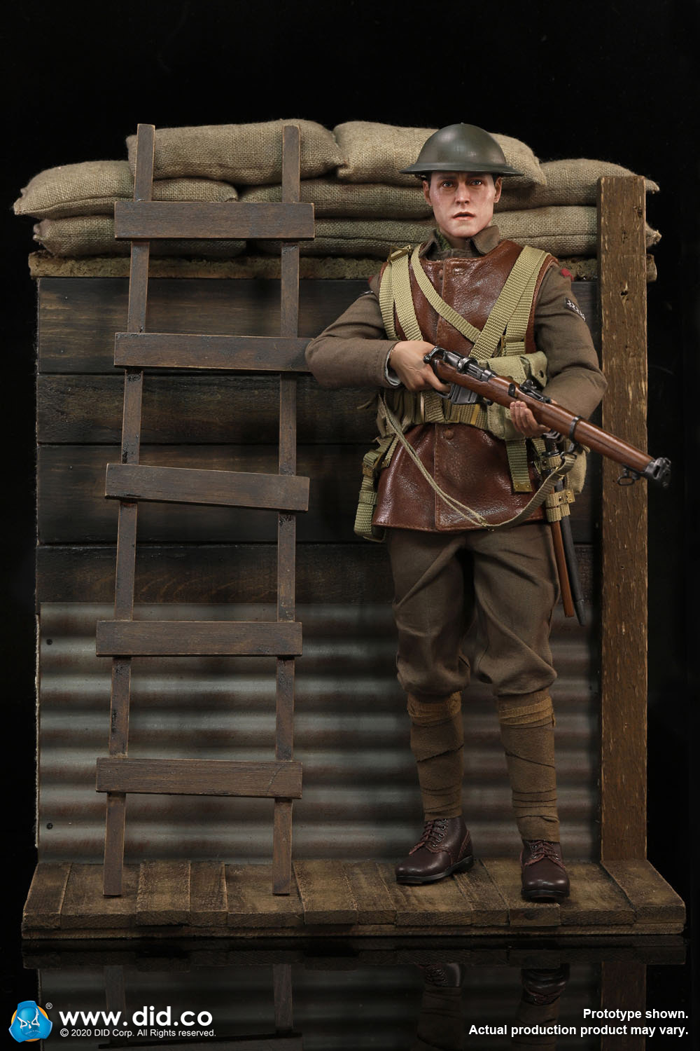 military - NEW PRODUCT: DiD: B11011 WWI British Infantry Lance Corporal William & Trench Diorama Set (UPDATED INFORMATION) 11342