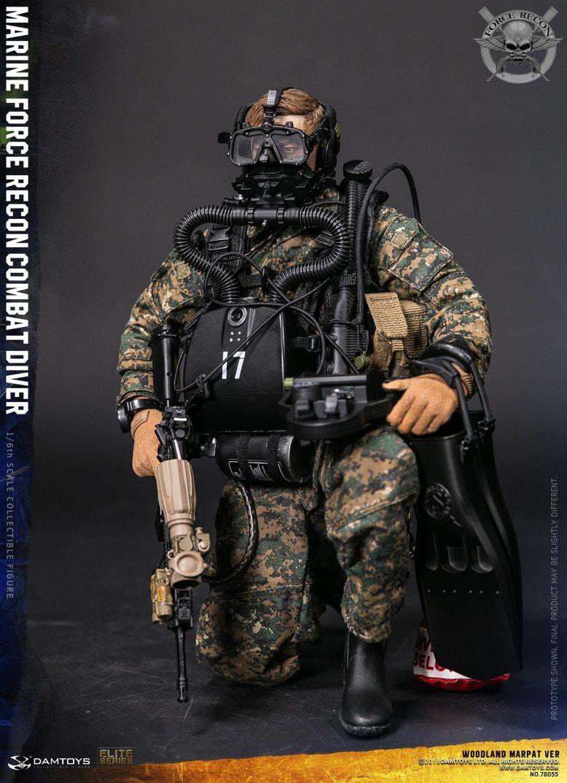 DamToys - NEW PRODUCT: DAM Toys: Marine Force Recon Combat Diver (Desert MARPAT) (GIDAM-78056) & (Woodland MARPAT) (GIDAM-78055) 1139