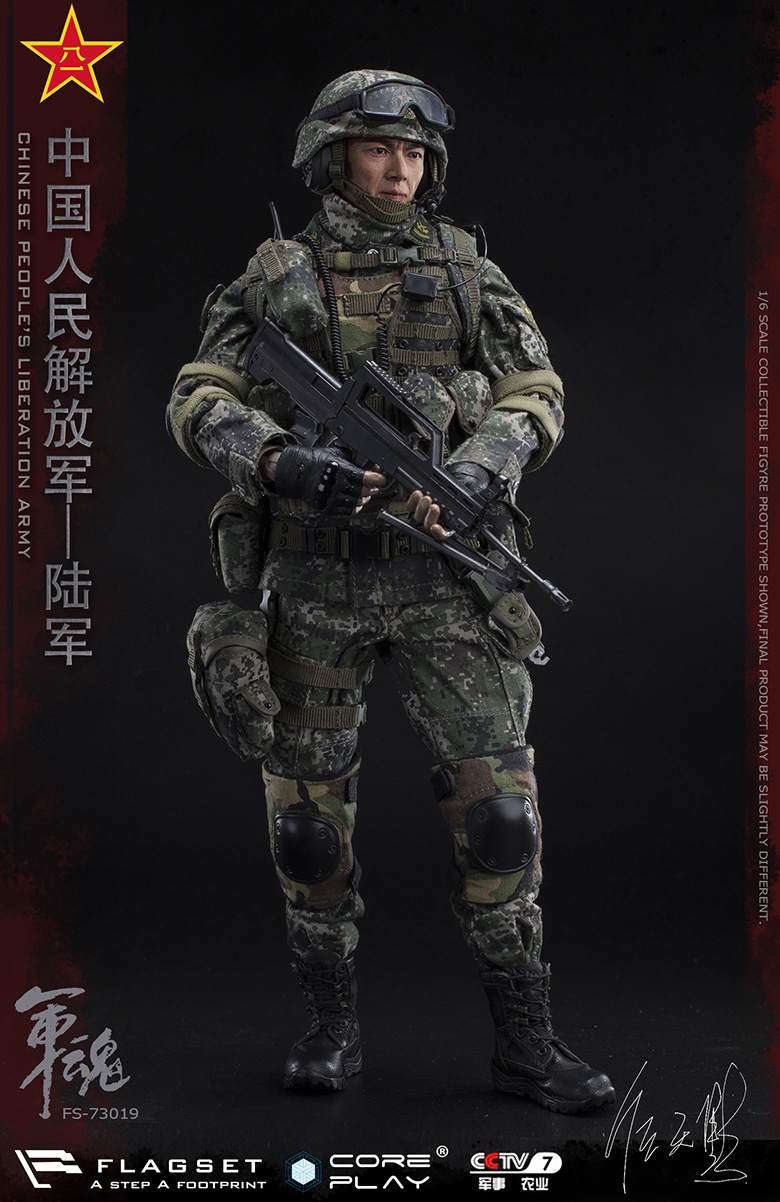 Army - NEW PRODUCT: FLAGSET: 1/6 Chinese People's Liberation Army Army Soul Series - Army Machine Gunner (73019#) Mr. Ren Tianye Image Authorization 11405410
