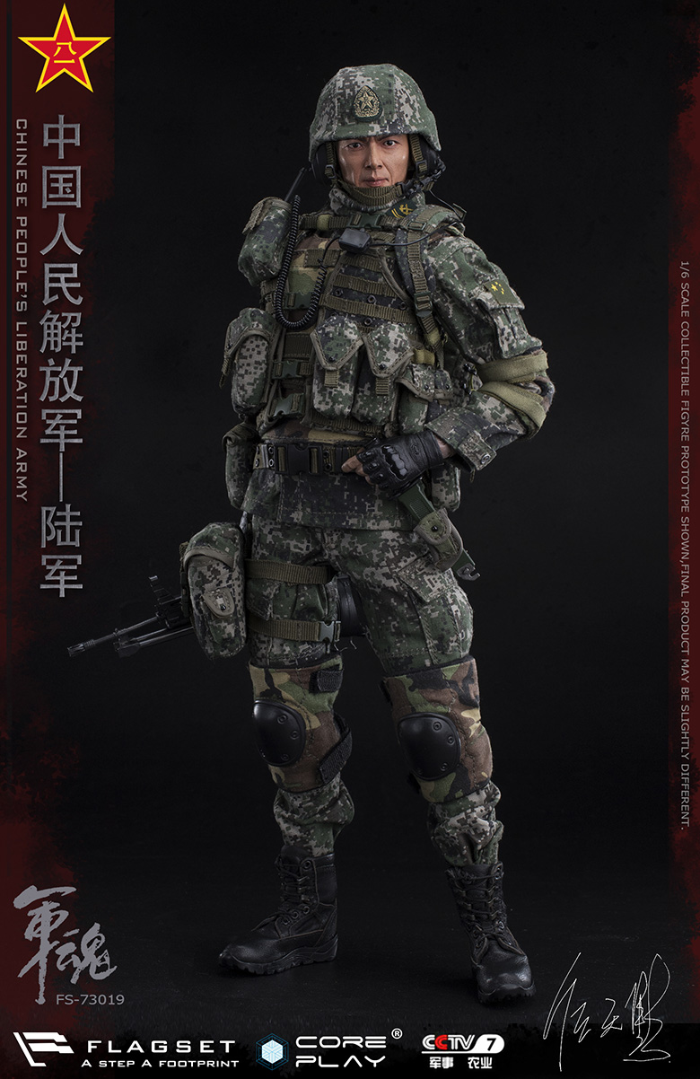 Army - NEW PRODUCT: FLAGSET: 1/6 Chinese People's Liberation Army Army Soul Series - Army Machine Gunner (73019#) Mr. Ren Tianye Image Authorization 11405411