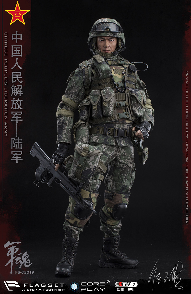Army - NEW PRODUCT: FLAGSET: 1/6 Chinese People's Liberation Army Army Soul Series - Army Machine Gunner (73019#) Mr. Ren Tianye Image Authorization 11405510