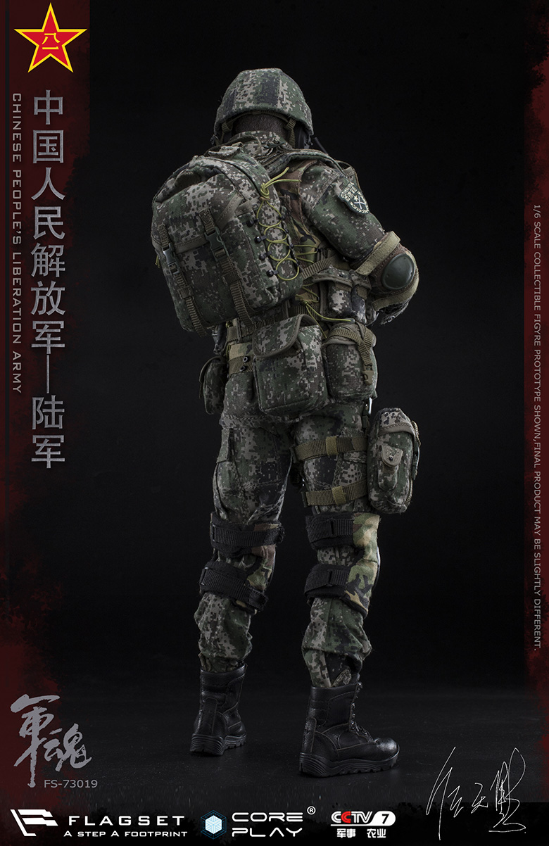 Army - NEW PRODUCT: FLAGSET: 1/6 Chinese People's Liberation Army Army Soul Series - Army Machine Gunner (73019#) Mr. Ren Tianye Image Authorization 11405610