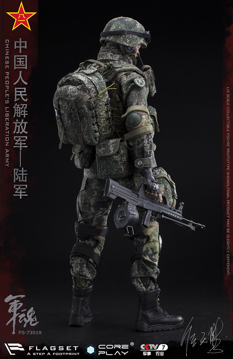 Army - NEW PRODUCT: FLAGSET: 1/6 Chinese People's Liberation Army Army Soul Series - Army Machine Gunner (73019#) Mr. Ren Tianye Image Authorization 11405611