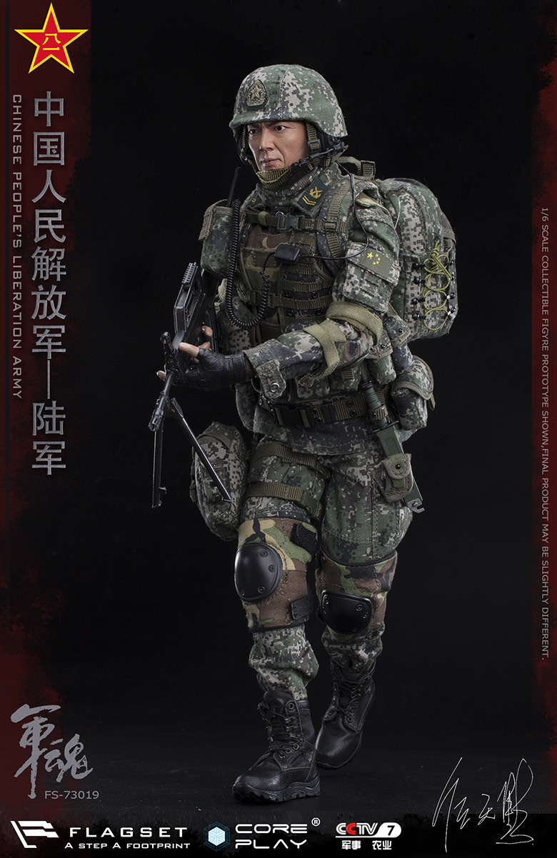 Army - NEW PRODUCT: FLAGSET: 1/6 Chinese People's Liberation Army Army Soul Series - Army Machine Gunner (73019#) Mr. Ren Tianye Image Authorization 11405810