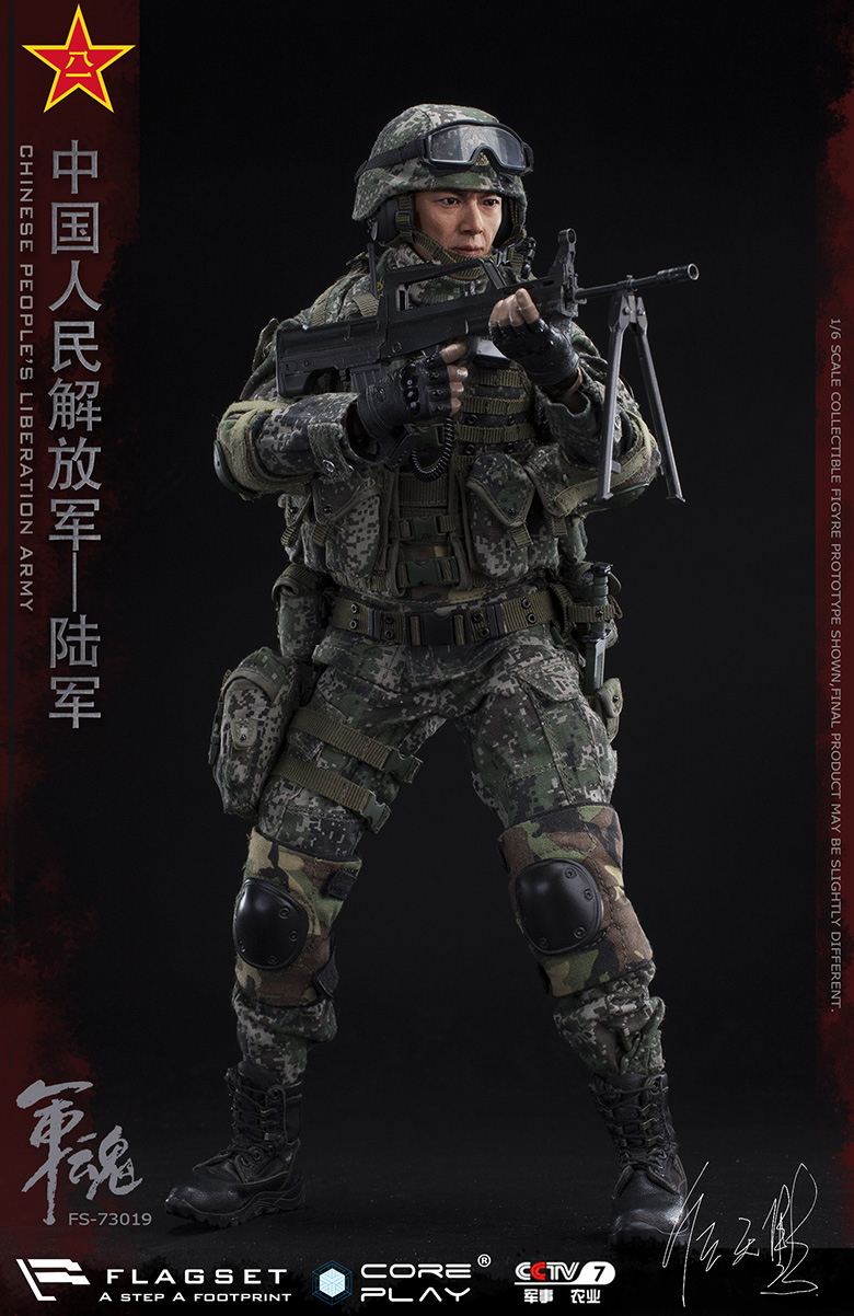 Army - NEW PRODUCT: FLAGSET: 1/6 Chinese People's Liberation Army Army Soul Series - Army Machine Gunner (73019#) Mr. Ren Tianye Image Authorization 11405911
