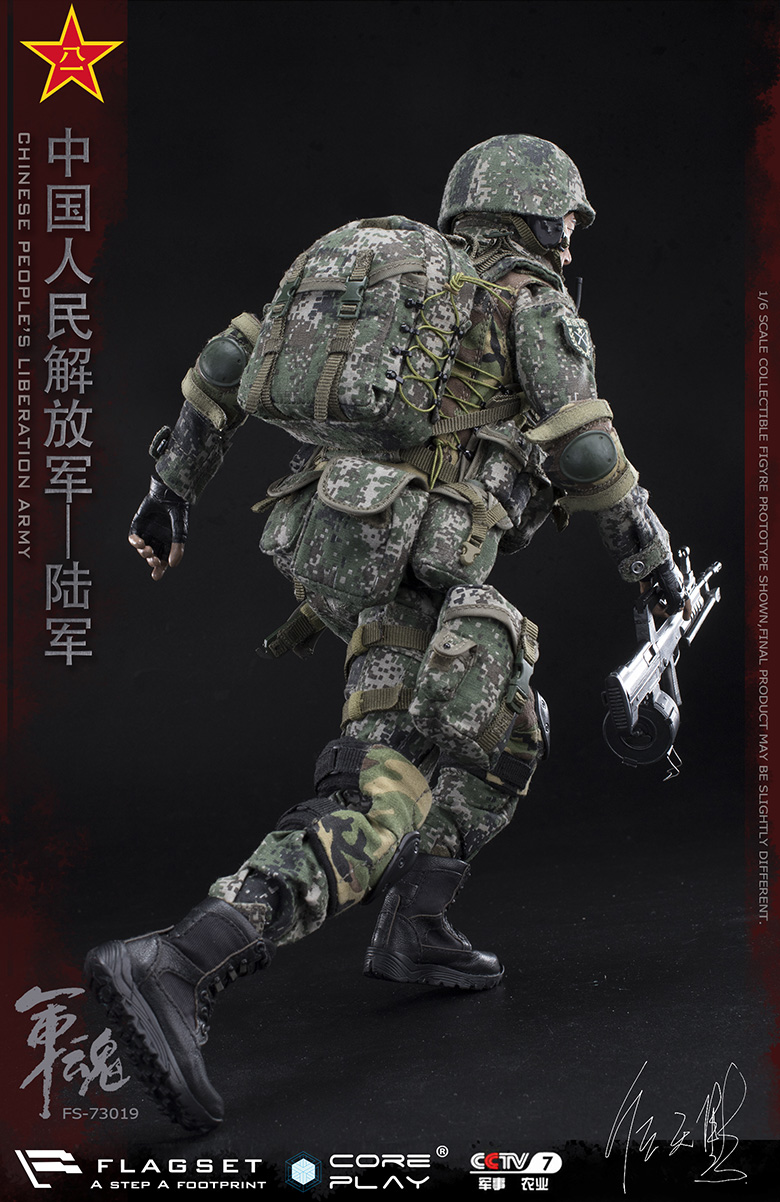 Army - NEW PRODUCT: FLAGSET: 1/6 Chinese People's Liberation Army Army Soul Series - Army Machine Gunner (73019#) Mr. Ren Tianye Image Authorization 11410311