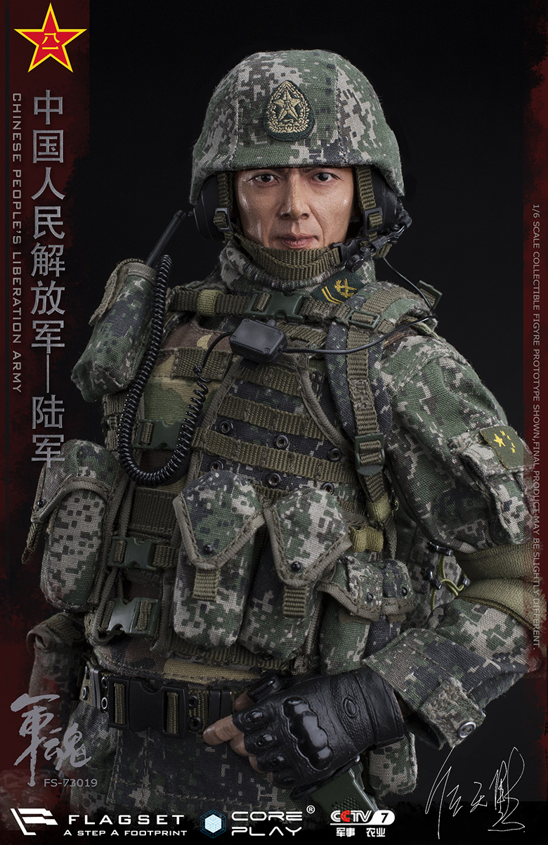 Army - NEW PRODUCT: FLAGSET: 1/6 Chinese People's Liberation Army Army Soul Series - Army Machine Gunner (73019#) Mr. Ren Tianye Image Authorization 11410410