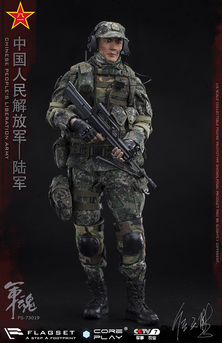 Army - NEW PRODUCT: FLAGSET: 1/6 Chinese People's Liberation Army Army Soul Series - Army Machine Gunner (73019#) Mr. Ren Tianye Image Authorization 11410610