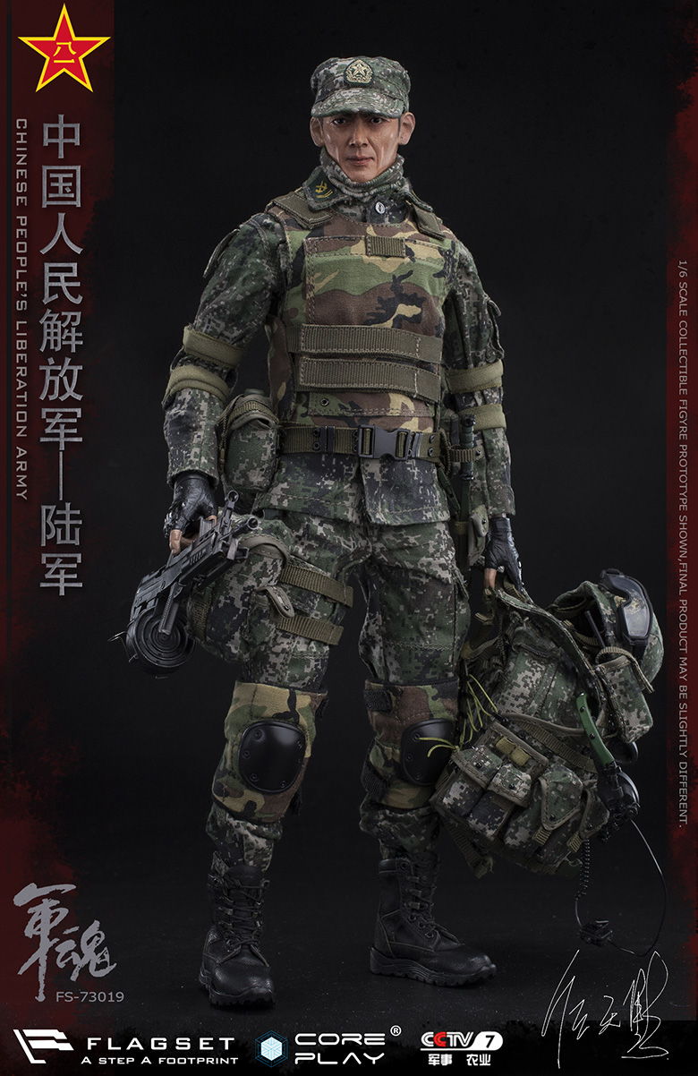 Army - NEW PRODUCT: FLAGSET: 1/6 Chinese People's Liberation Army Army Soul Series - Army Machine Gunner (73019#) Mr. Ren Tianye Image Authorization 11410810