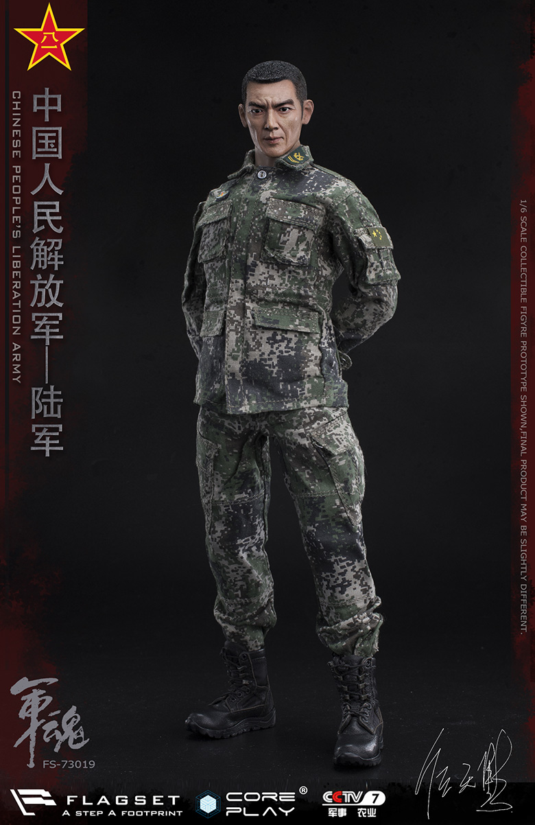 Army - NEW PRODUCT: FLAGSET: 1/6 Chinese People's Liberation Army Army Soul Series - Army Machine Gunner (73019#) Mr. Ren Tianye Image Authorization 11411611