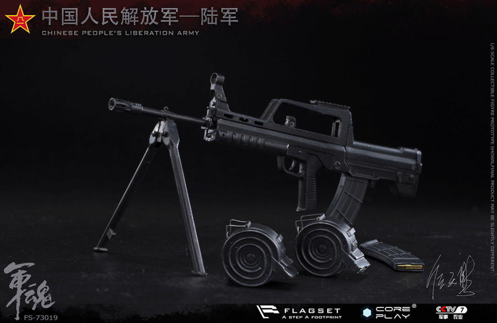 Army - NEW PRODUCT: FLAGSET: 1/6 Chinese People's Liberation Army Army Soul Series - Army Machine Gunner (73019#) Mr. Ren Tianye Image Authorization 11411713
