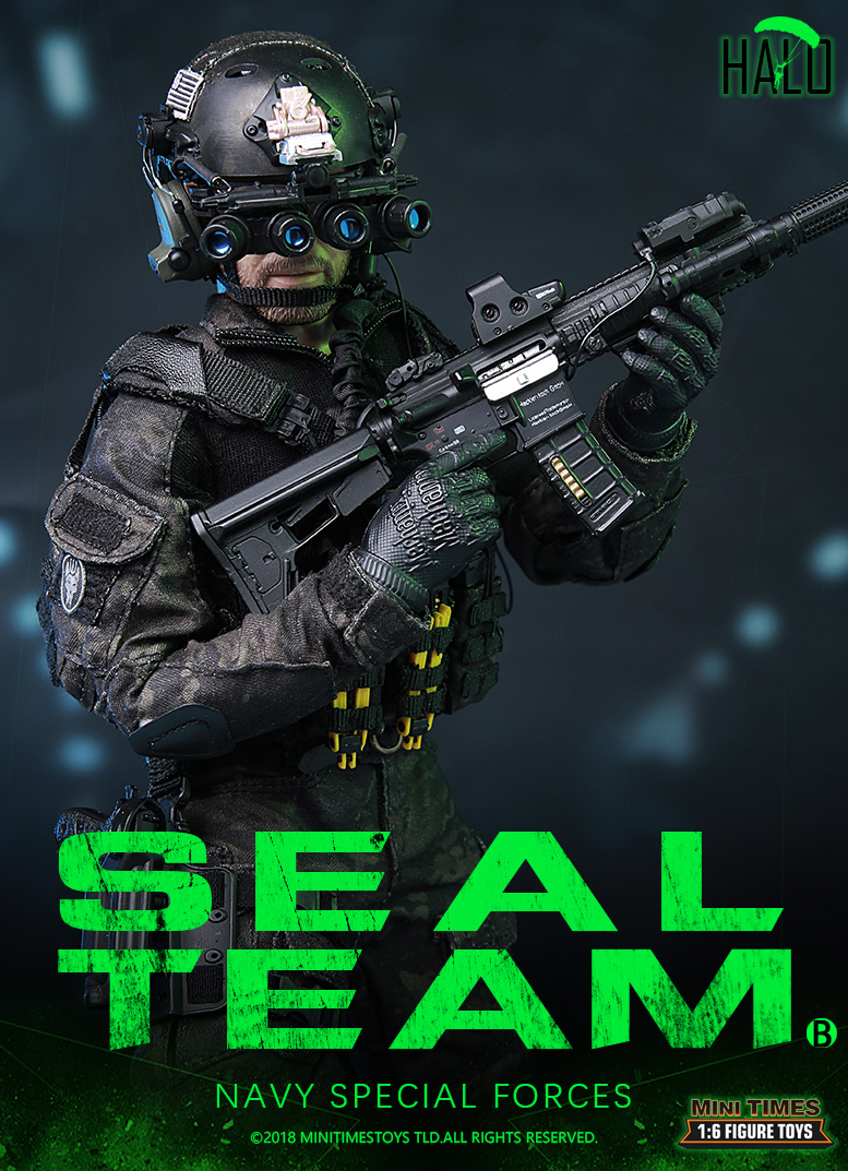 "Dog - NEW PRODUCT: MINI TIMES TOYS US NAVY SEAL TEAM SPECIAL FORCES ""HALO"" 1/6 SCALE ACTION FIGURE MT-M013 1167"