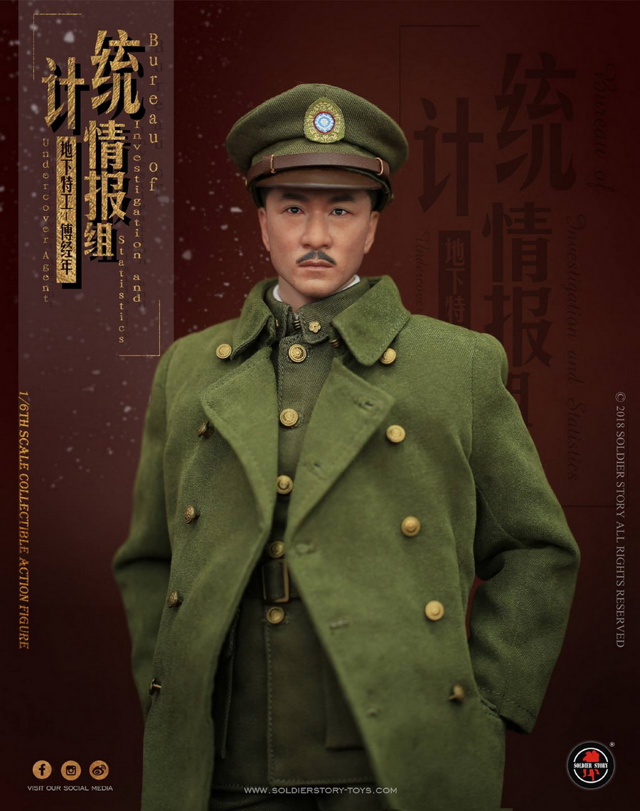 SoldierStory - NEW PRODUCT: SoldierStory new product: 1/6 World War II statistical intelligence group underground agent Fu Jingian - Shanghai 1942 (SS113#) 1170