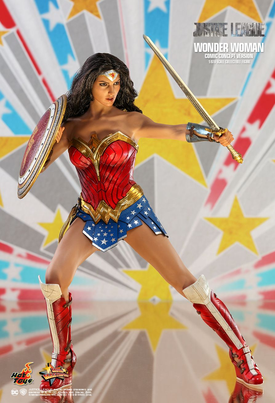 NEW PRODUCT: HOT TOYS: JUSTICE LEAGUE WONDER WOMAN (COMIC CONCEPT VERSION) 1/6TH SCALE COLLECTIBLE FIGURE 1174