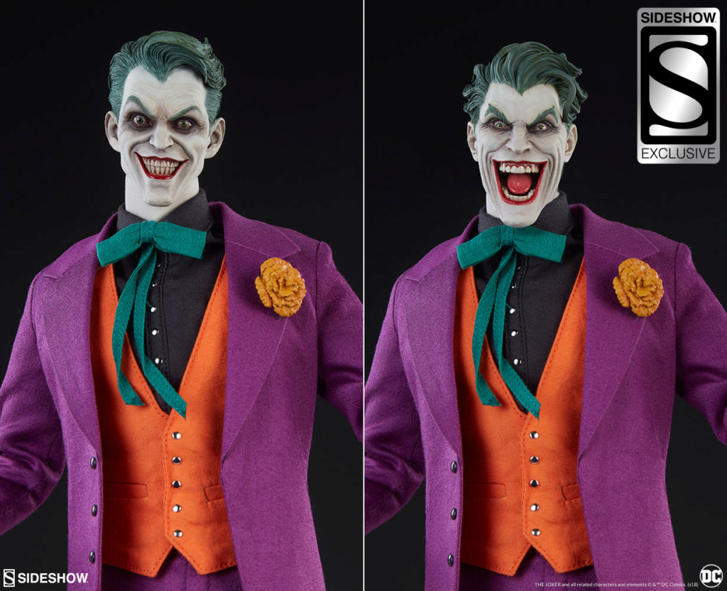 batman - NEW PRODUCT: SIDESHOW COLLECTIBLES: The Joker Sixth Scale Figure (Exclusive Laughing Head Sculpt) 1188