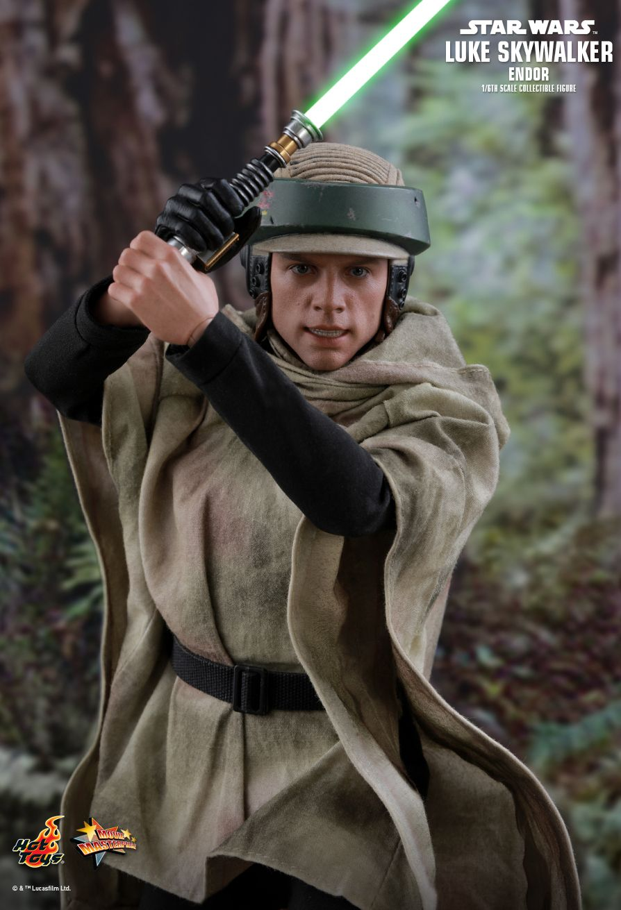returnofthejedi - NEW PRODUCT: HOT TOYS: STAR WARS: RETURN OF THE JEDI LUKE SKYWALKER (ENDOR) 1/6TH SCALE COLLECTIBLE FIGURE 1195