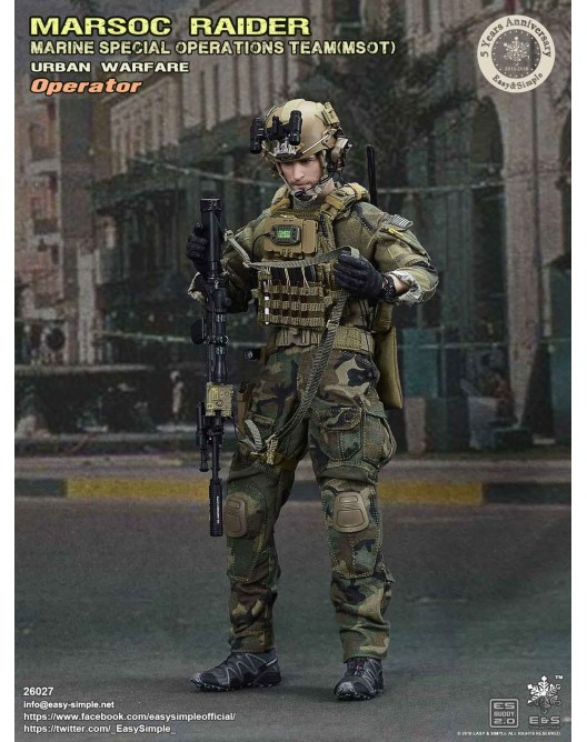 NEW PRODUCT: Easy & Simple 26027 1/6 Scale MARSOC Raider Urban Warfare Operator 12-52810