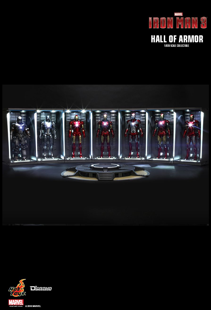 diorama - NEW PRODUCT: HOT TOYS: IRON MAN 2 HALL OF ARMOR 1/6TH SCALE COLLECTIBLE 1200