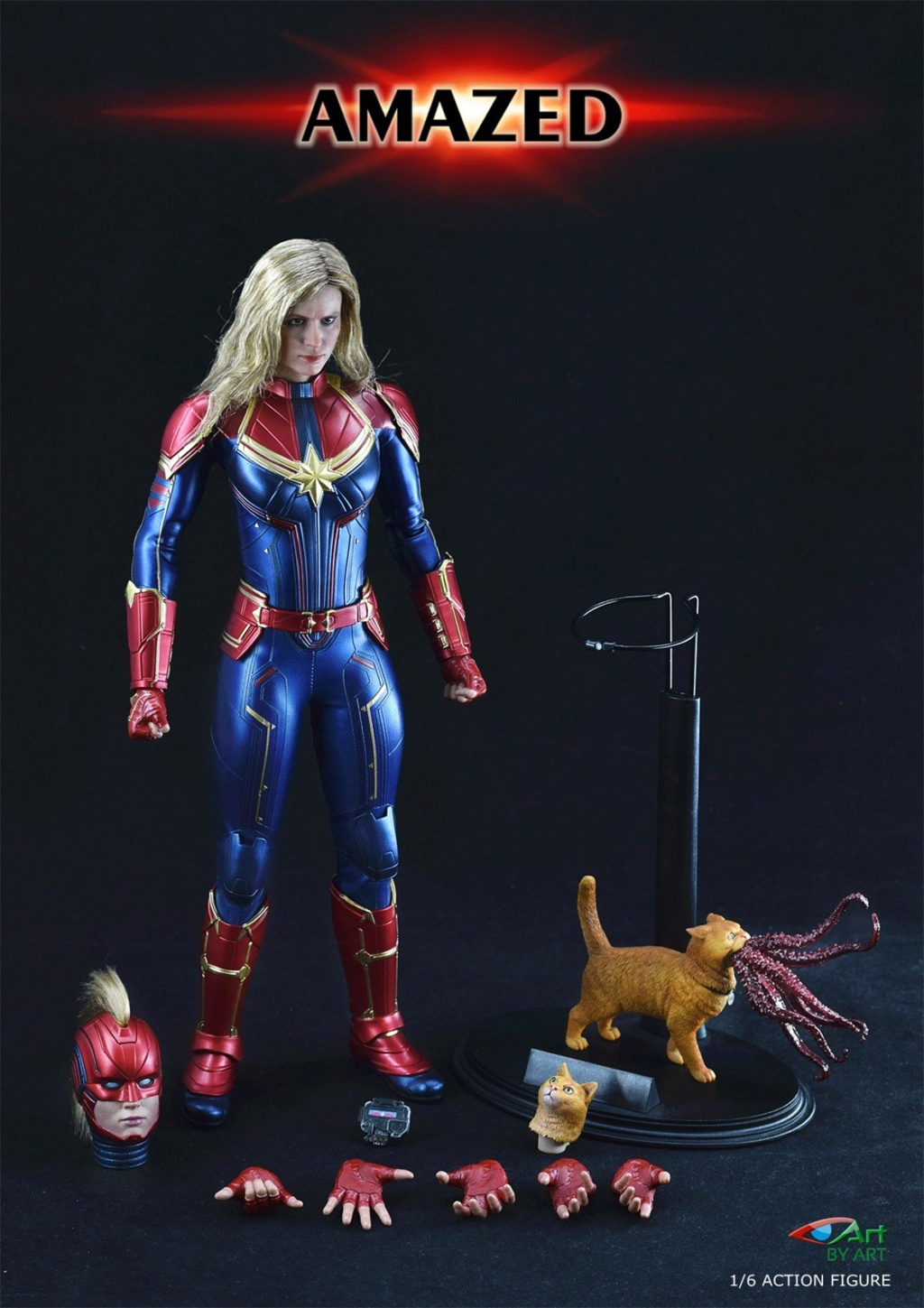 Female - NEW PRODUCT: BY-Art: 1/6 AMAZED amazing female action figure BY-012 12022311