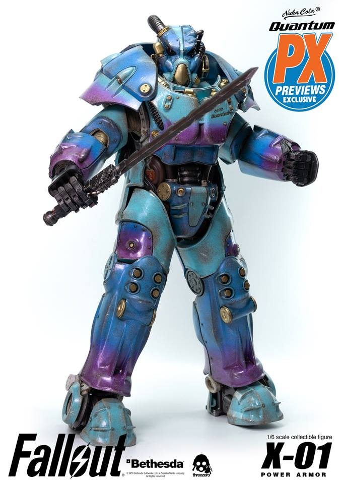 "Fallout - NEW PRODUCT: Three Zero Exclusive 1/6th scale X-01 ""Quantum"" Power Armor 14.5-inch Figure Set 1207"