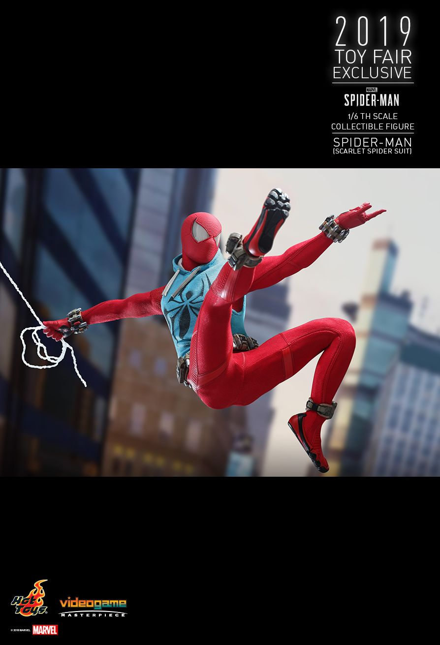 marvel - NEW PRODUCT: HOT TOYS: MARVEL'S SPIDER-MAN SPIDER-MAN (SCARLET SPIDER SUIT) 1/6TH SCALE COLLECTIBLE FIGURE 12149