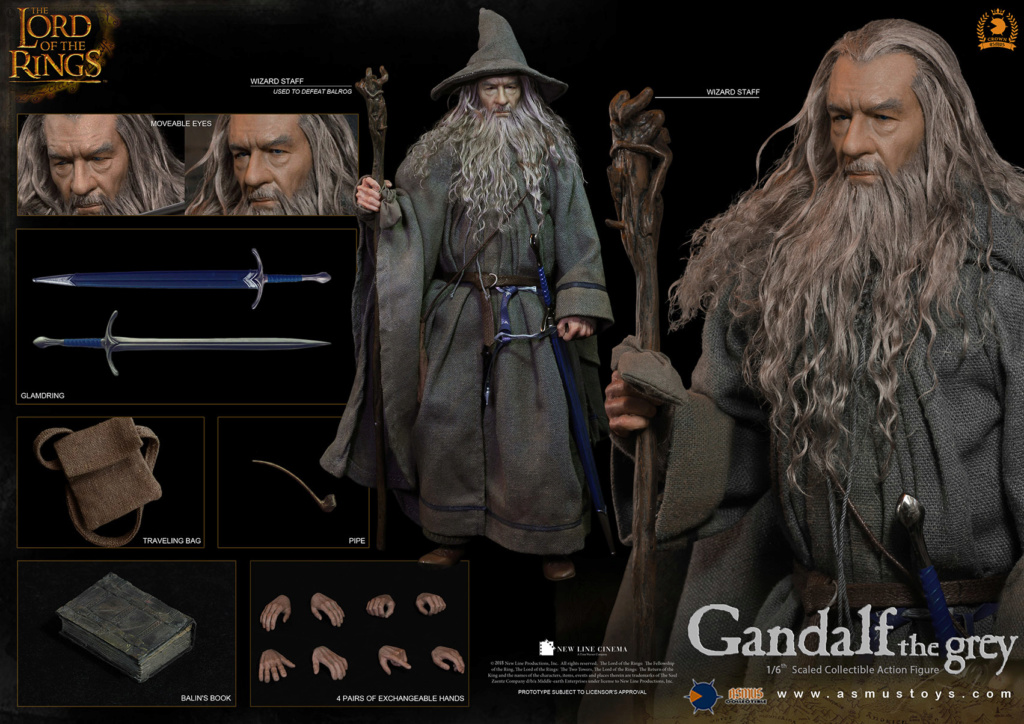 NEW PRODUCT: ASMUS TOYS THE CROWN SERIES : GANDALF THE GREY 1/6 figure 12157