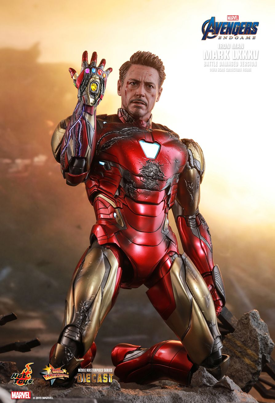 marvel - NEW PRODUCT: HOT TOYS: AVENGERS: ENDGAME IRON MAN MARK LXXXV (BATTLE DAMAGED VERSION) 1/6TH SCALE COLLECTIBLE FIGURE 12161