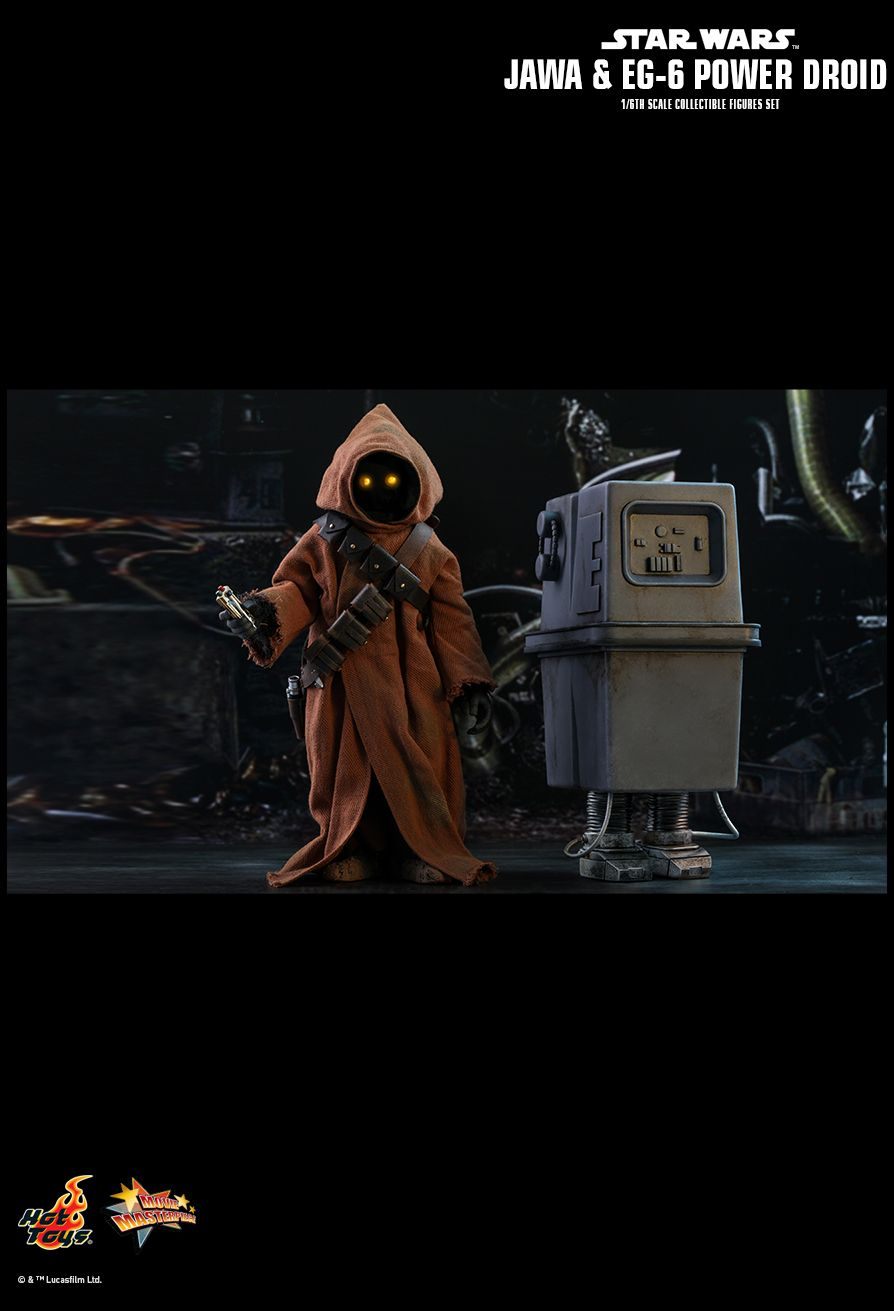 NEW PRODUCT: HOT TOYS: STAR WARS: EPISODE IV A NEW HOPE JAWA & EG-6 POWER DROID 1/6TH SCALE COLLECTIBLE SET 12176