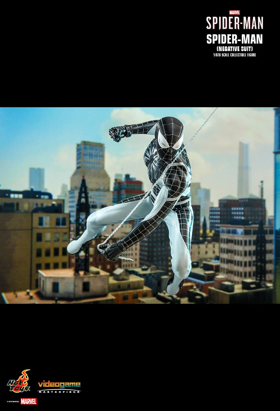 Spider-Man - NEW PRODUCT: HOT TOYS: MARVEL'S SPIDER-MAN SPIDER-MAN (NEGATIVE SUIT) 1/6TH SCALE COLLECTIBLE FIGURE (EXCLUSIVE EDITION) 12186