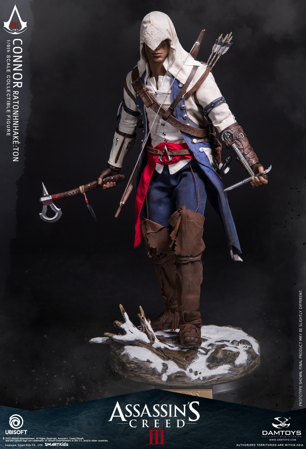 "Videogame - NEW PRODUCT: DAMTOYS: 1/6 Ubisoft classic game ""Assassin's Creed III"" - Connor movable doll DMS010 12211910"