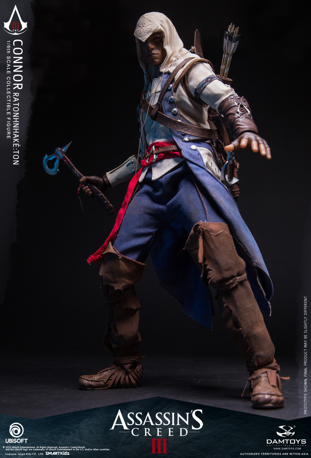 "Videogame - NEW PRODUCT: DAMTOYS: 1/6 Ubisoft classic game ""Assassin's Creed III"" - Connor movable doll DMS010 12212010"