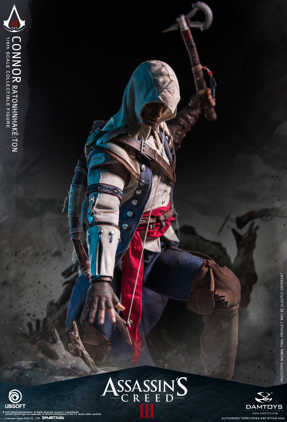 "Videogame - NEW PRODUCT: DAMTOYS: 1/6 Ubisoft classic game ""Assassin's Creed III"" - Connor movable doll DMS010 12212110"
