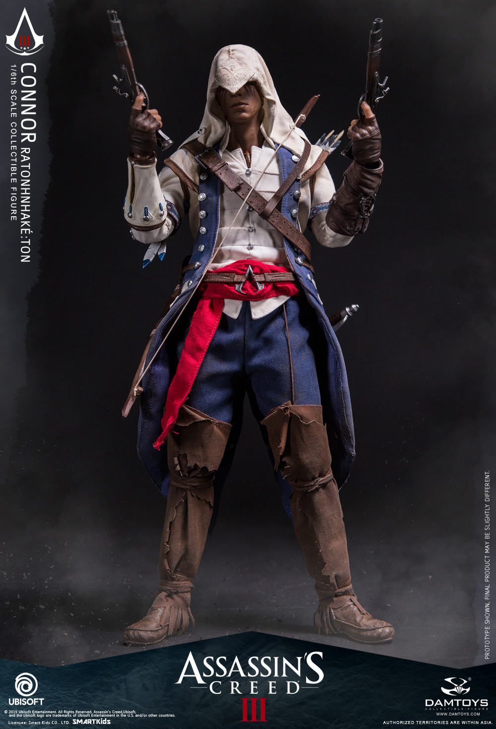 "Videogame - NEW PRODUCT: DAMTOYS: 1/6 Ubisoft classic game ""Assassin's Creed III"" - Connor movable doll DMS010 12212810"