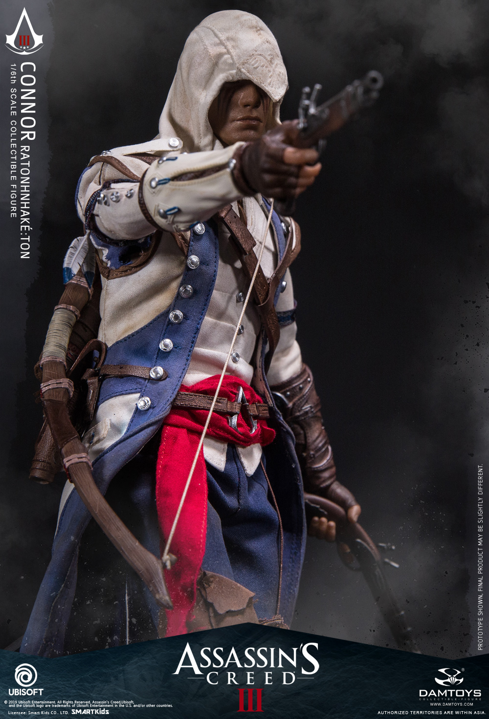"Videogame - NEW PRODUCT: DAMTOYS: 1/6 Ubisoft classic game ""Assassin's Creed III"" - Connor movable doll DMS010 12212910"
