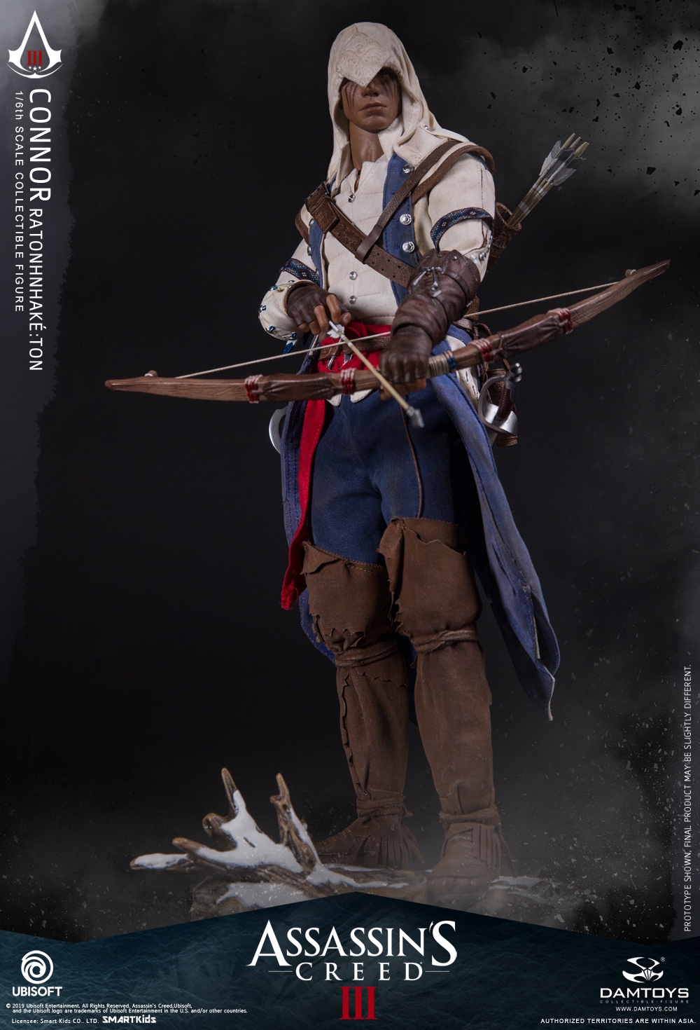 "Videogame - NEW PRODUCT: DAMTOYS: 1/6 Ubisoft classic game ""Assassin's Creed III"" - Connor movable doll DMS010 12213010"
