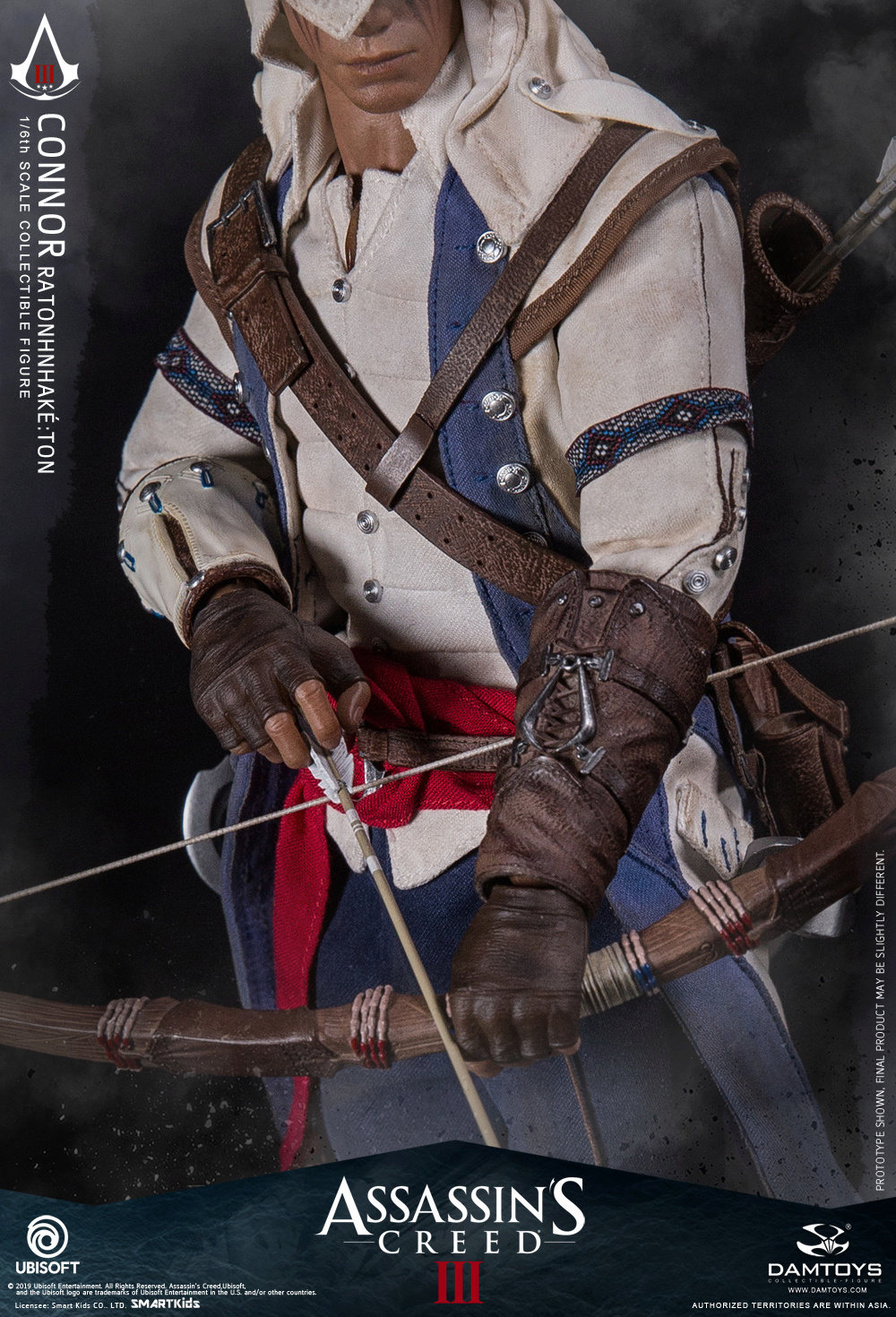 "Videogame - NEW PRODUCT: DAMTOYS: 1/6 Ubisoft classic game ""Assassin's Creed III"" - Connor movable doll DMS010 12213110"