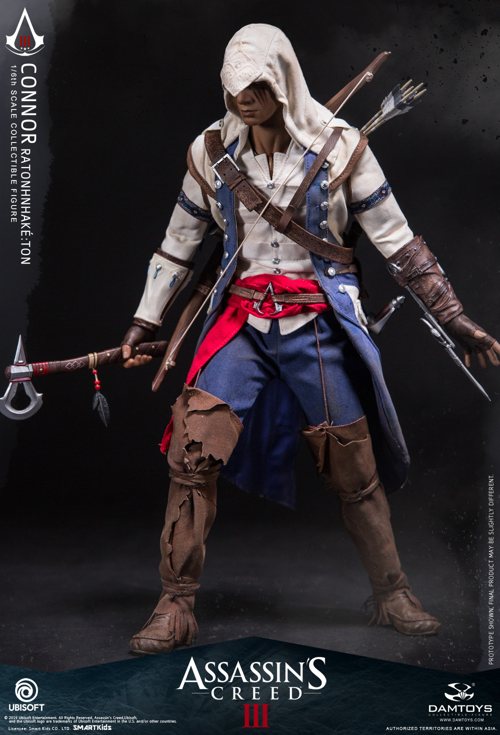 "Videogame - NEW PRODUCT: DAMTOYS: 1/6 Ubisoft classic game ""Assassin's Creed III"" - Connor movable doll DMS010 12213210"