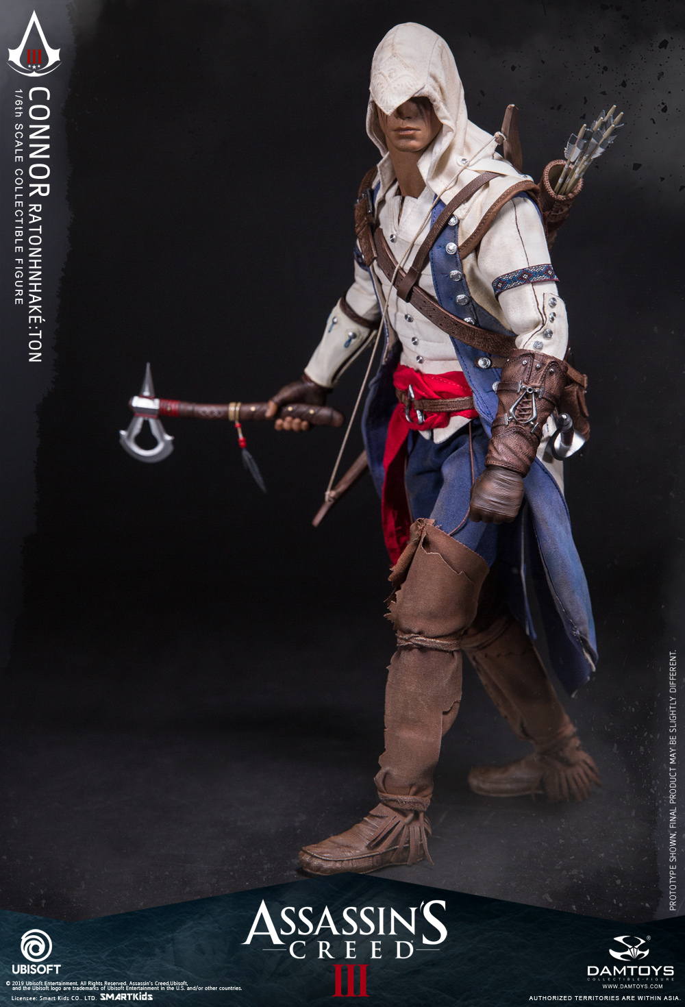 "Videogame - NEW PRODUCT: DAMTOYS: 1/6 Ubisoft classic game ""Assassin's Creed III"" - Connor movable doll DMS010 12213310"