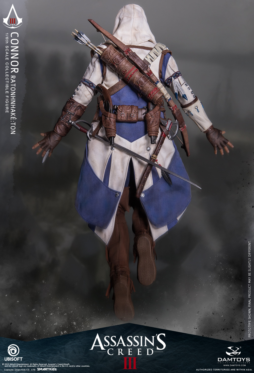 "Videogame - NEW PRODUCT: DAMTOYS: 1/6 Ubisoft classic game ""Assassin's Creed III"" - Connor movable doll DMS010 12213410"
