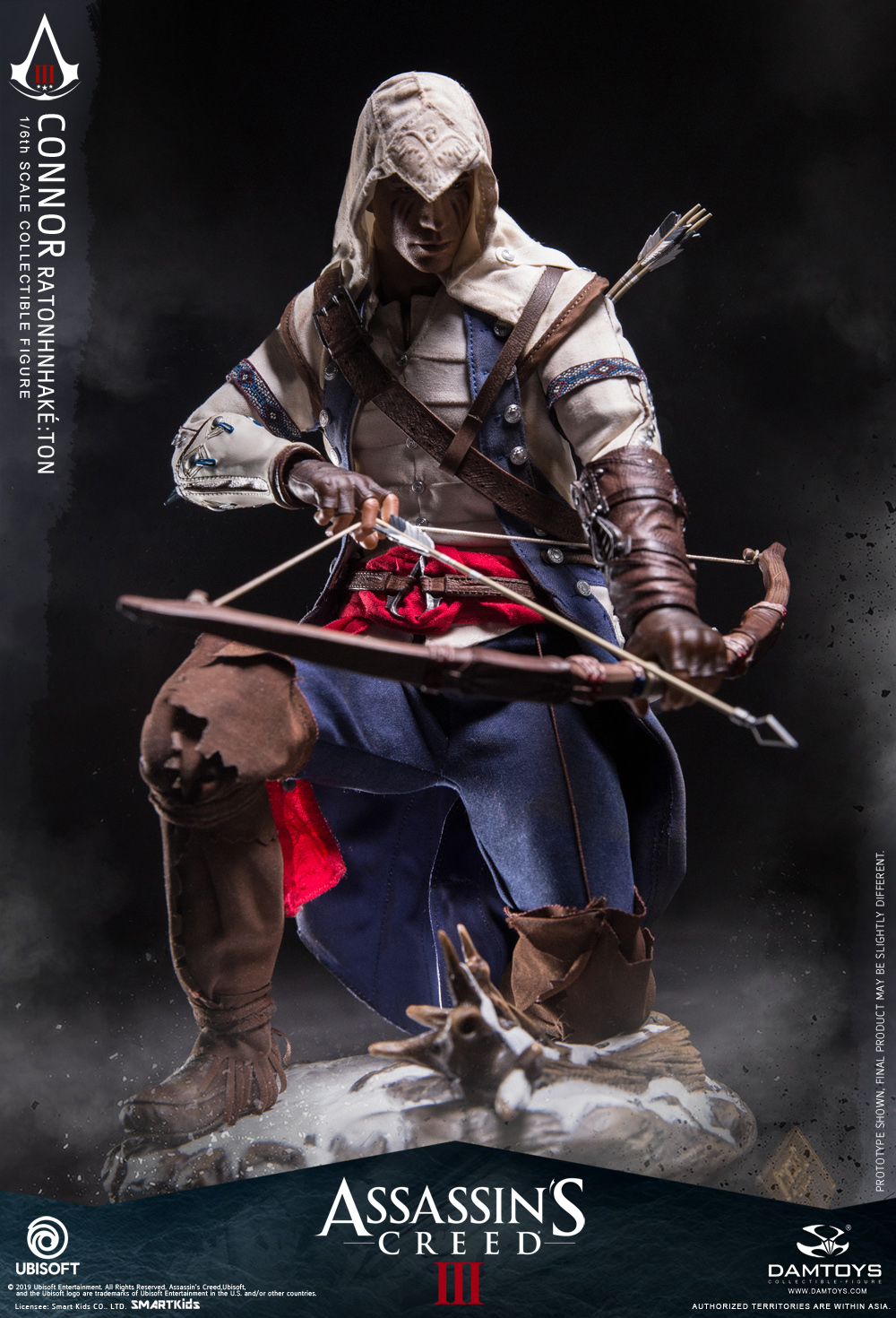 "Videogame - NEW PRODUCT: DAMTOYS: 1/6 Ubisoft classic game ""Assassin's Creed III"" - Connor movable doll DMS010 12213510"