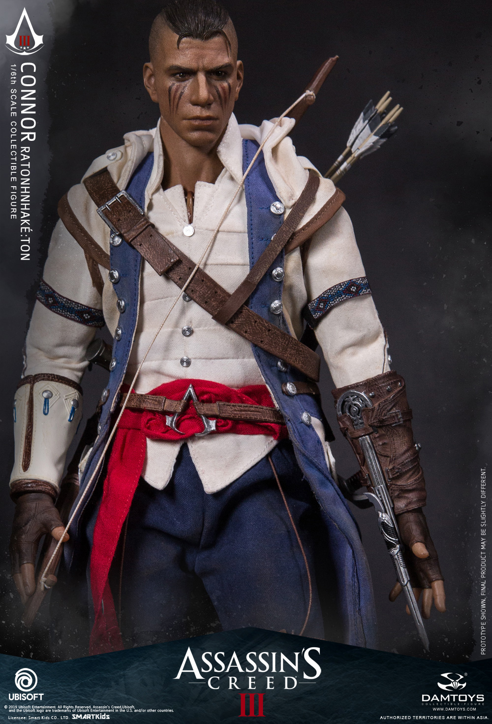 "Videogame - NEW PRODUCT: DAMTOYS: 1/6 Ubisoft classic game ""Assassin's Creed III"" - Connor movable doll DMS010 12213910"