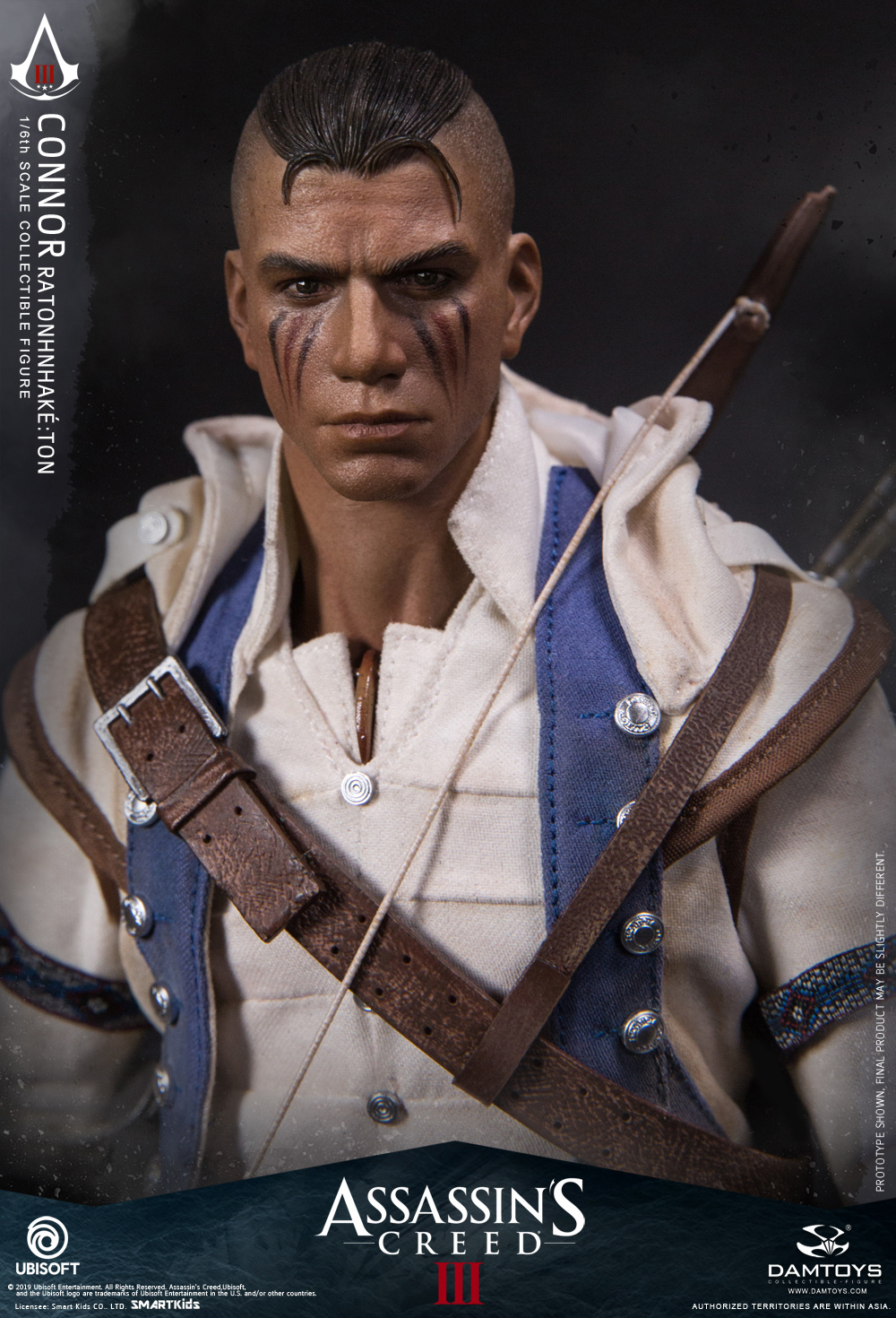 "Videogame - NEW PRODUCT: DAMTOYS: 1/6 Ubisoft classic game ""Assassin's Creed III"" - Connor movable doll DMS010 12214010"