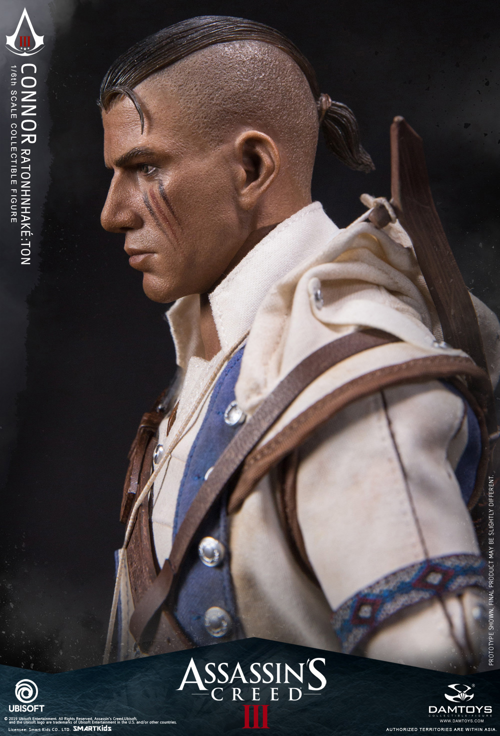 "Videogame - NEW PRODUCT: DAMTOYS: 1/6 Ubisoft classic game ""Assassin's Creed III"" - Connor movable doll DMS010 12214110"